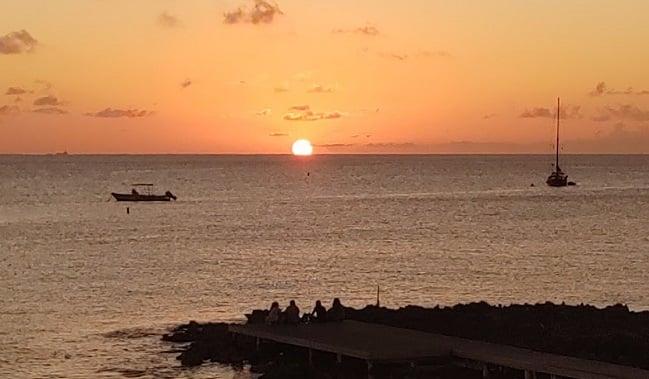 cayman lobster pot sunset